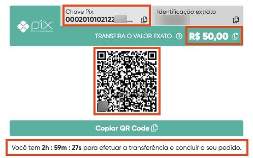QR Code para pagamento Pix