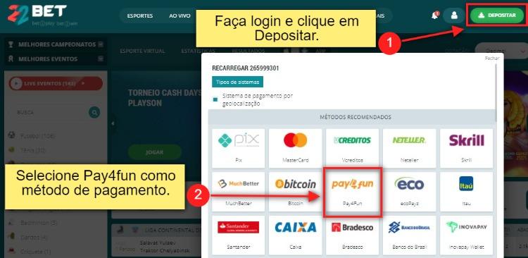 depósito pay4fun