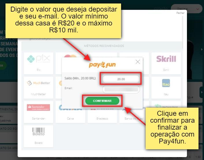como depositar com pay4fun