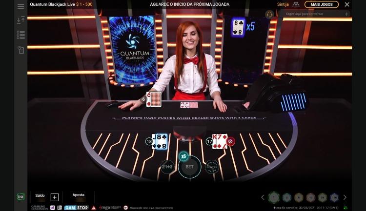 mesa do Quantum Blackjack Live