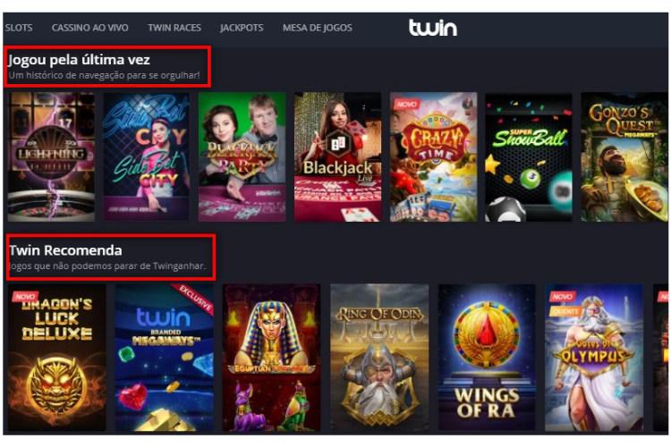 recomendação personalizada twin casino