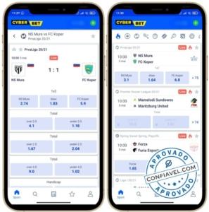 interface aplicativo cyber bet
