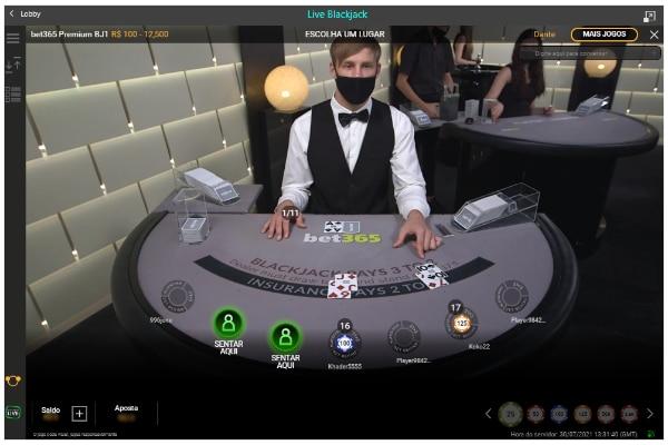 blackjack bet365 cassino