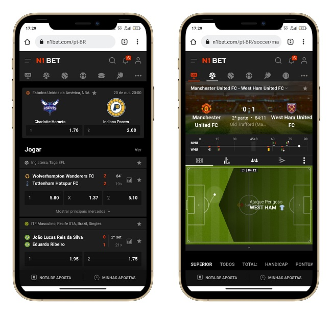 interface n1 bet mobile