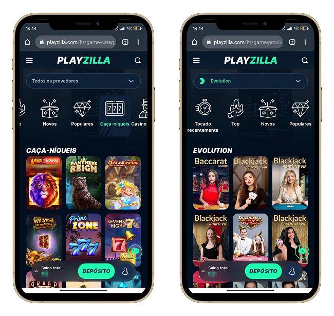 interface playzilla mobile