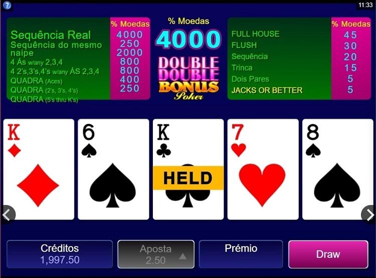 video poker no casino booi